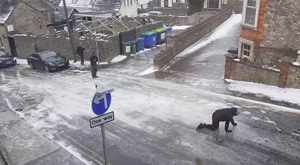 carretera congelada