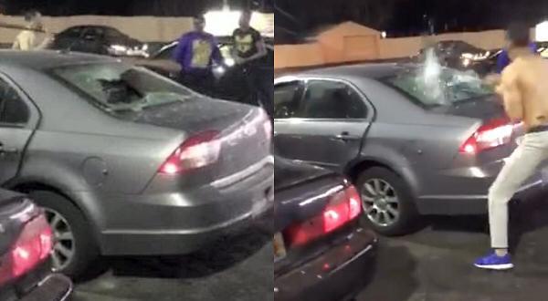 pelea en el parking