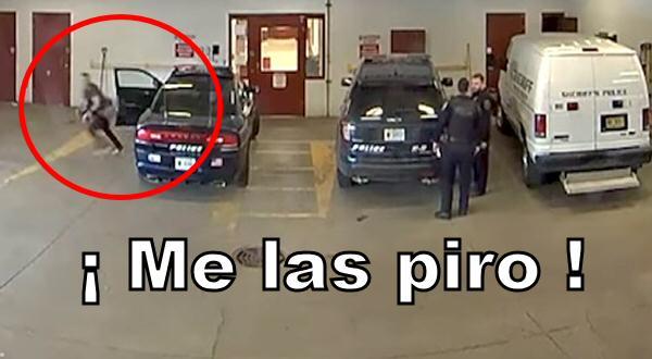 Un delincuente escapa de la policía