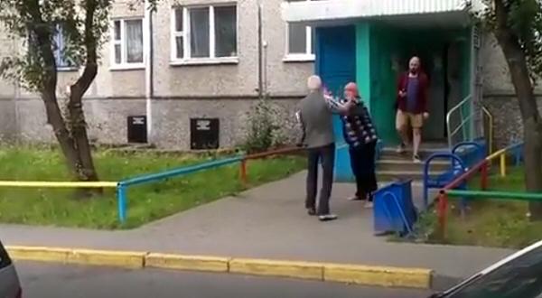 Pelea entre abuelos