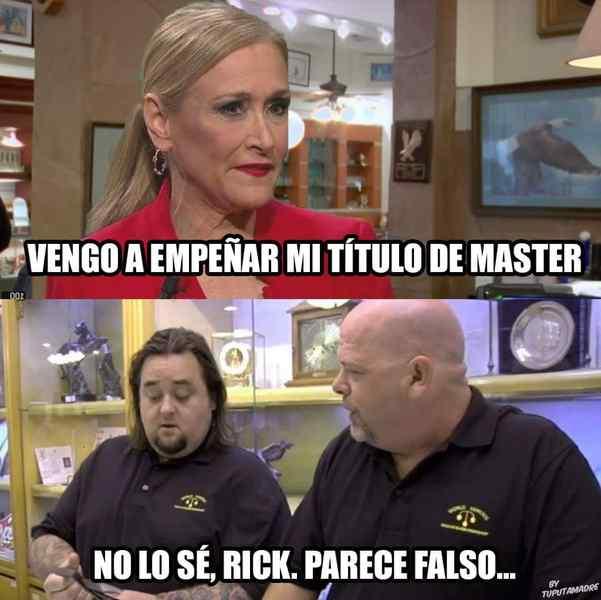 Memes de Cristina Cifuentes y su Máster. Los 10 mejores memes. 4