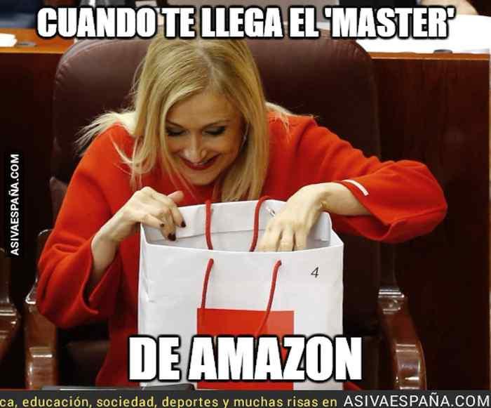 Memes de Cristina Cifuentes y su Máster. Los 10 mejores memes. 6