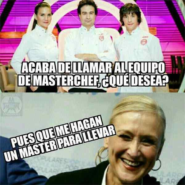 Memes de Cristina Cifuentes y su Máster. Los 10 mejores memes. 8