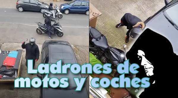 vídeo de ladrones de motos y coches