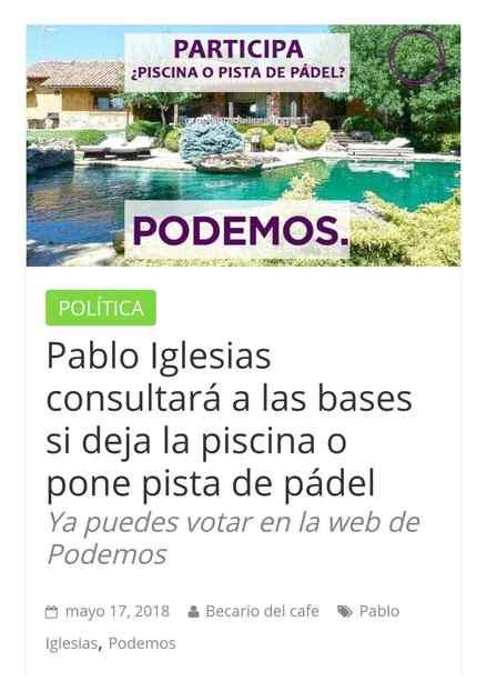 Memes chalet de Pablo Iglesias