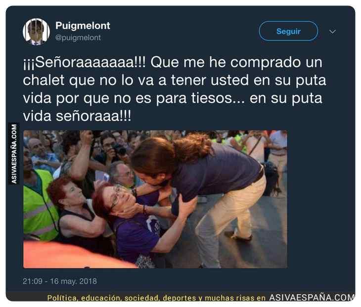 memes graciosos del chalet de Pablo Iglesias