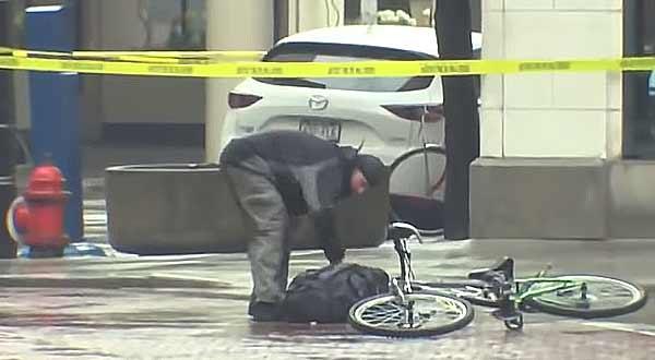 Vídeo de un ciclista y una mochila sospechosa