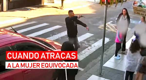 mujer dispara a su atracador en Brasil