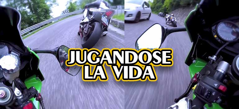 video de carreras de motos ilegales