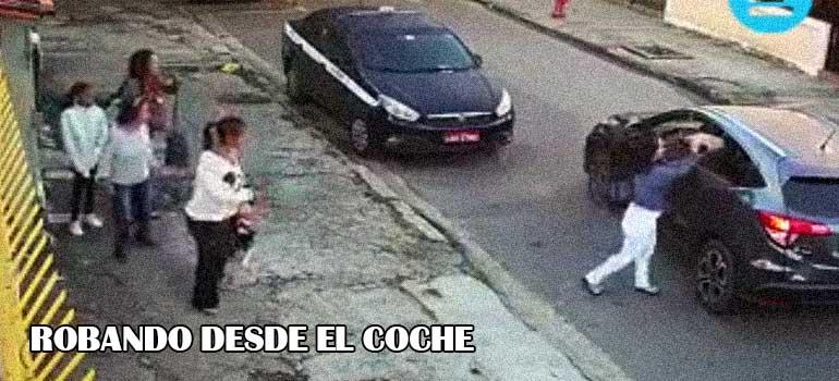 Vídeo de unos ladrones robando en Brasil