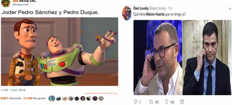 memes de los ministros - Los memes de Pedro Duque y Máxim Huerta.