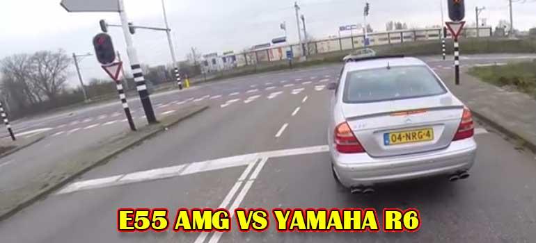 vídeo de un pique entre un mercedes y una yamaha