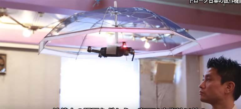 paraguas drone - El paraguas drone que te sigue a todas partes.