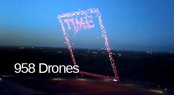 Portada de la revista TIME usando drones