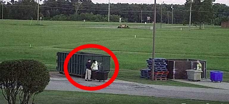 vídeo de dos presos escapando de la cárcel.