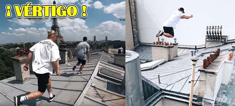Vídeo de parkour por tejados de París