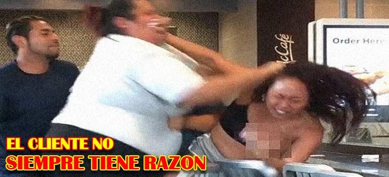 pelea entre cliente y empleada de un mcdonal's