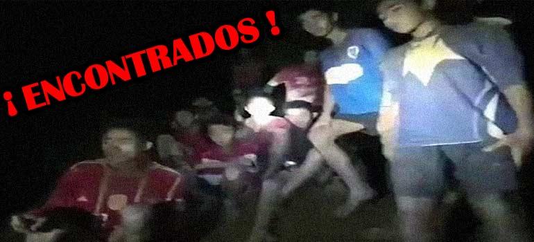 El vídeo del rescate de los niños atrapados en una cueva