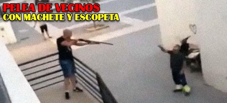 Una pelea entre vecinos de Huelva, con escopeta y machete