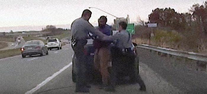 Espectacular vídeo de la policía