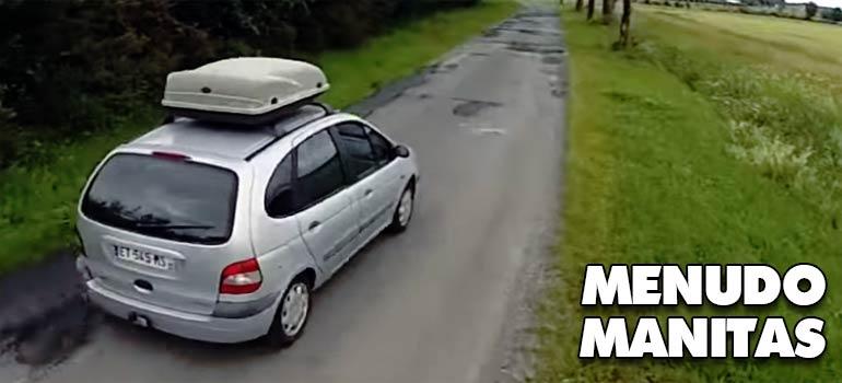 vídeo de una renault scenic convertida en mini caravana