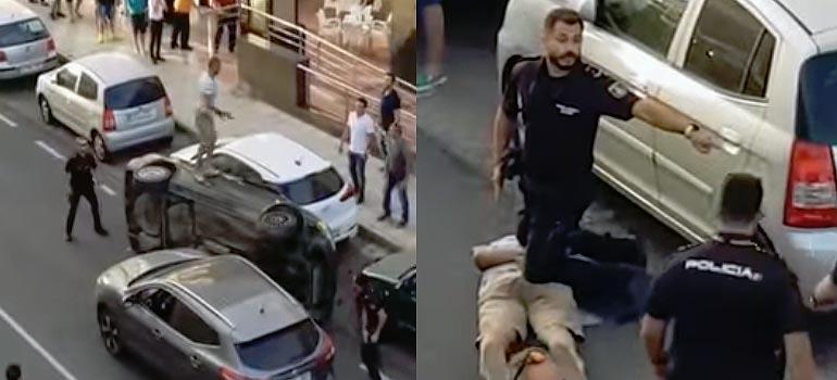 vídeo de la detención policial en arrecife