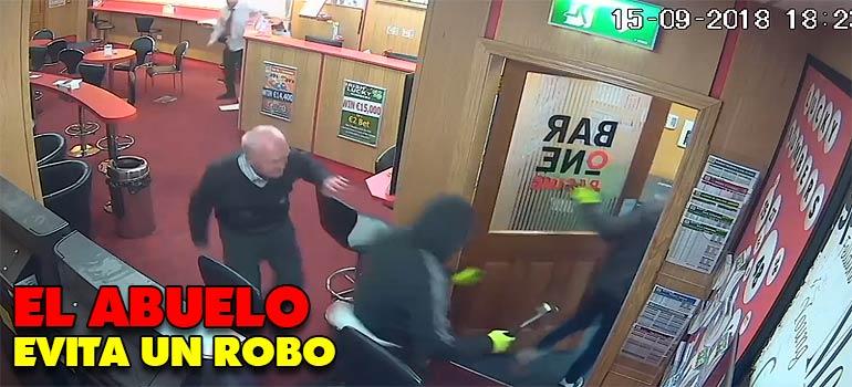 Hombre de 85 años se enfrenta a unos ladrones