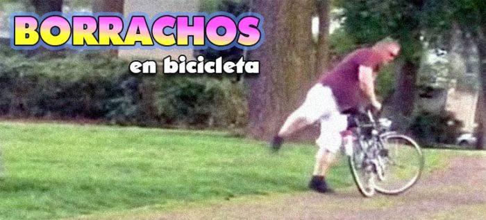 Muchos vídeos graciosos de gente que ha bebido demasiado y luego intenta montar en bicicleta