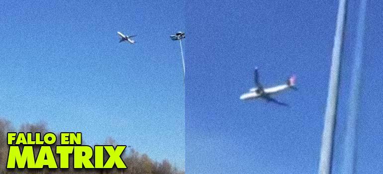 El vídeo del avión parado en el aire
