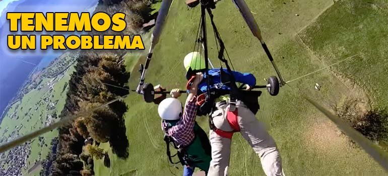 Turista salva su vida de milagro en su primer vuelo en Ala Delta. 10