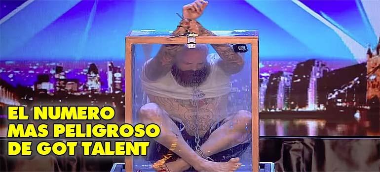 Dicen que ha sido la actuación más peligrosa de Got Talent. 2