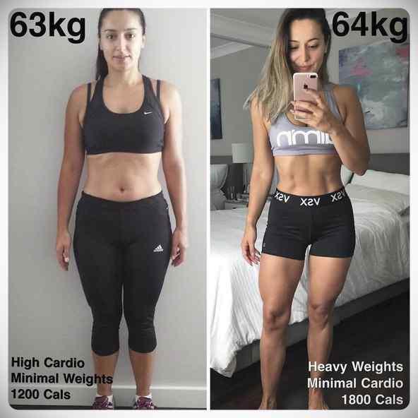 No siempre perder kilos es sinónimo de estar mas delgada, atento a estas fotos... 2