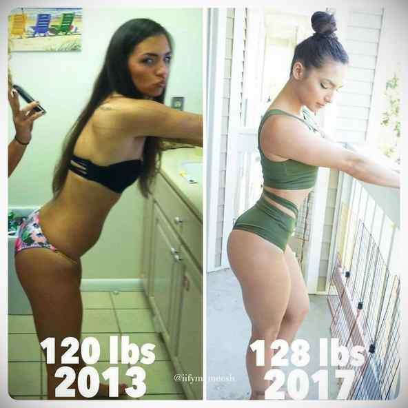 No siempre perder kilos es sinónimo de estar mas delgada, atento a estas fotos... 12