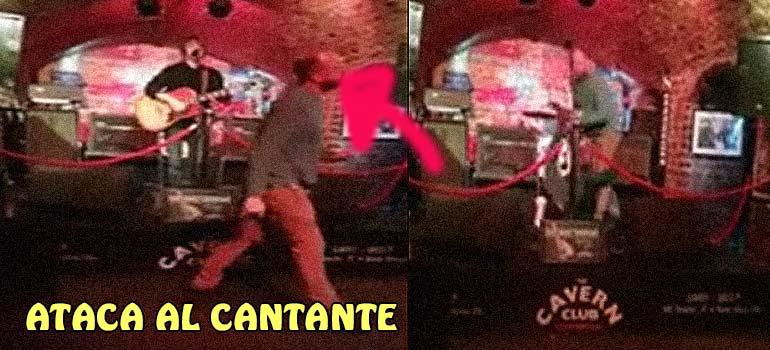 Le da un siroco y se sube al escenario a tirar al suelo al cantante. 6