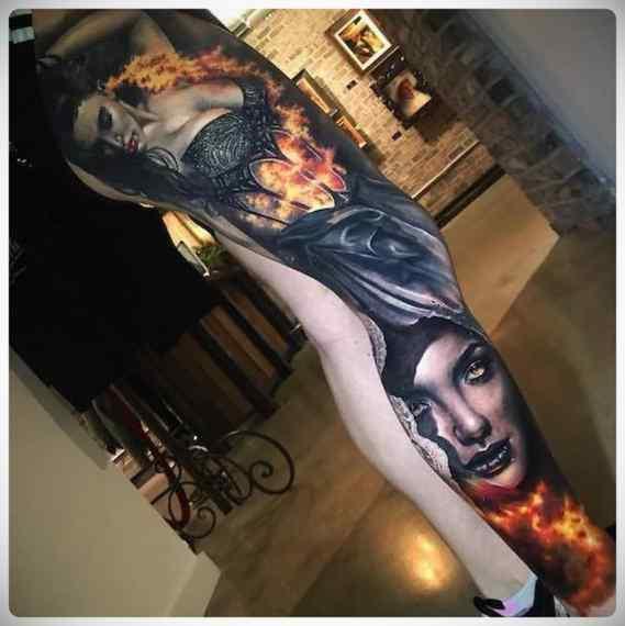 Increíbles imágenes de tatuajes, son obras de arte. 5