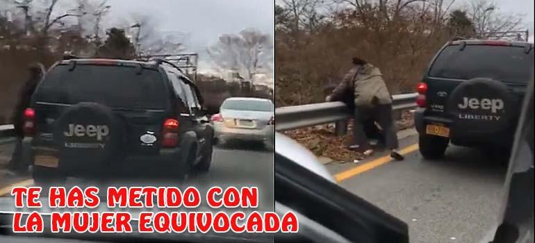 Este conductor se ha enfrentado a la mujer y se lleva un buen correctivo. 6