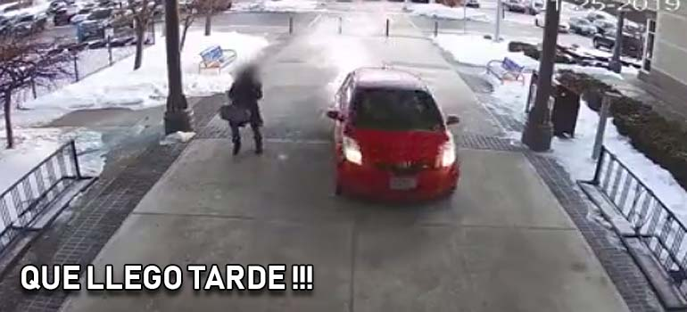Se mete con el coche dentro de un gimnasio. 5