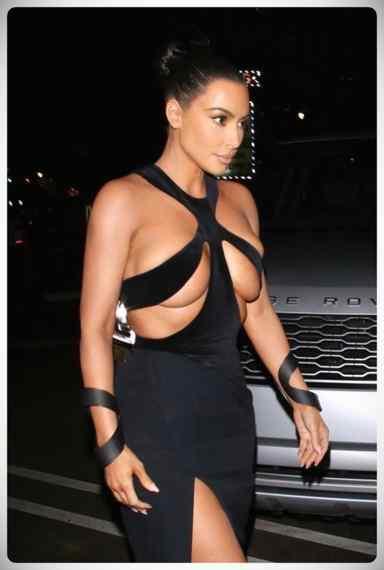 Kim Kardashian vuelve a sorprender a todos con su vestido. 2