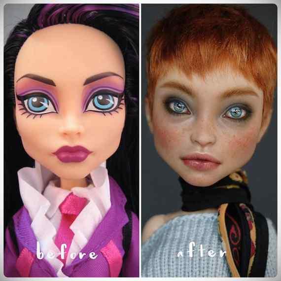 Muñecas maquilladas de forma realista. Galería de fotos impresionante. 14