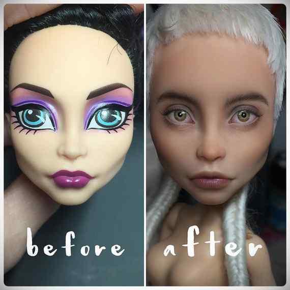 Muñecas maquilladas de forma realista. Galería de fotos impresionante. 16