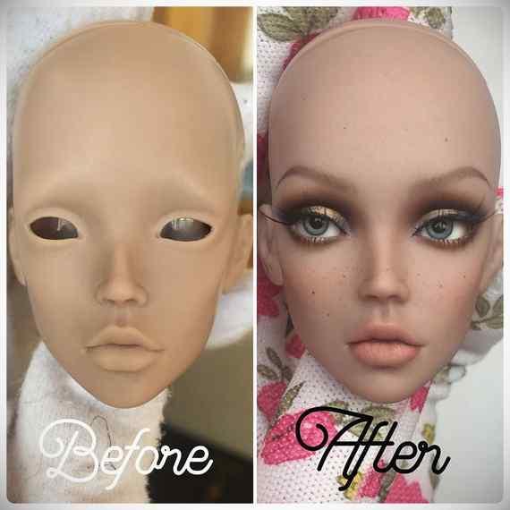 Muñecas maquilladas de forma realista. Galería de fotos impresionante. 17