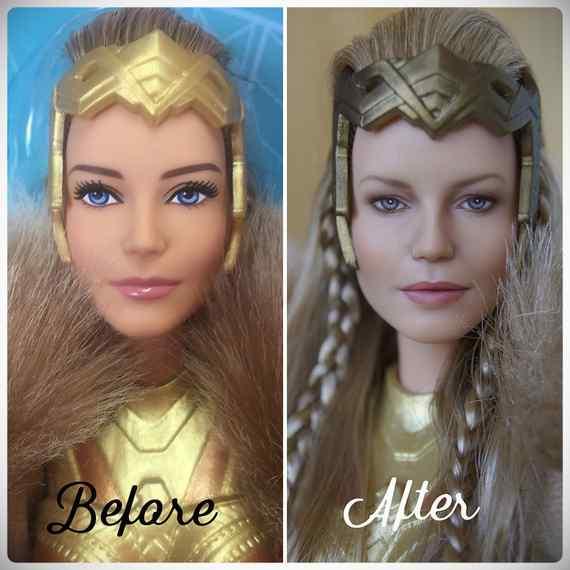 Muñecas maquilladas de forma realista. Galería de fotos impresionante. 18
