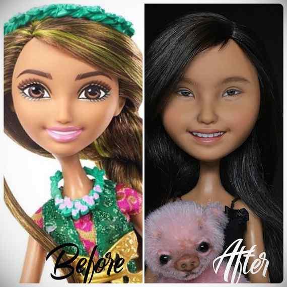 Muñecas maquilladas de forma realista. Galería de fotos impresionante. 20