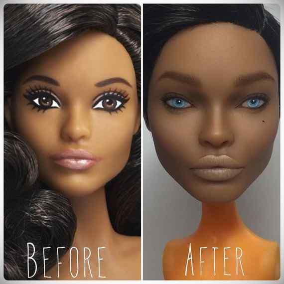 Muñecas maquilladas de forma realista. Galería de fotos impresionante. 4