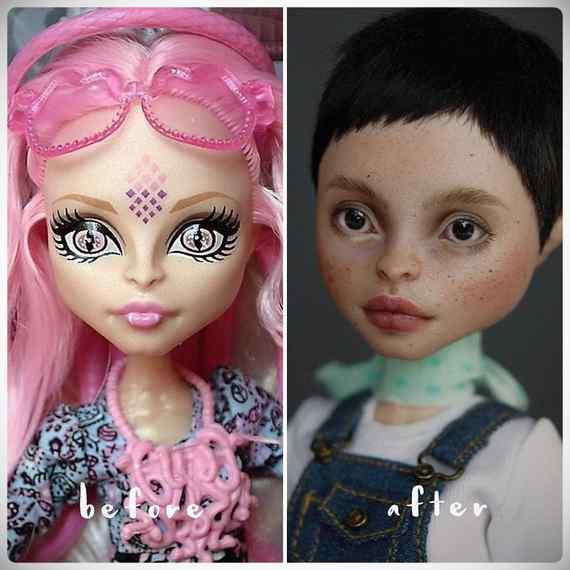 Muñecas maquilladas de forma realista. Galería de fotos impresionante. 5
