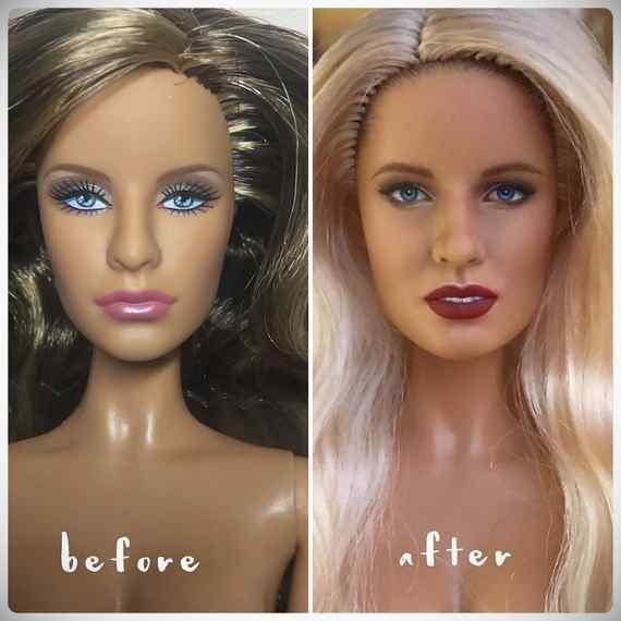 Muñecas maquilladas de forma realista. Galería de fotos impresionante. 6