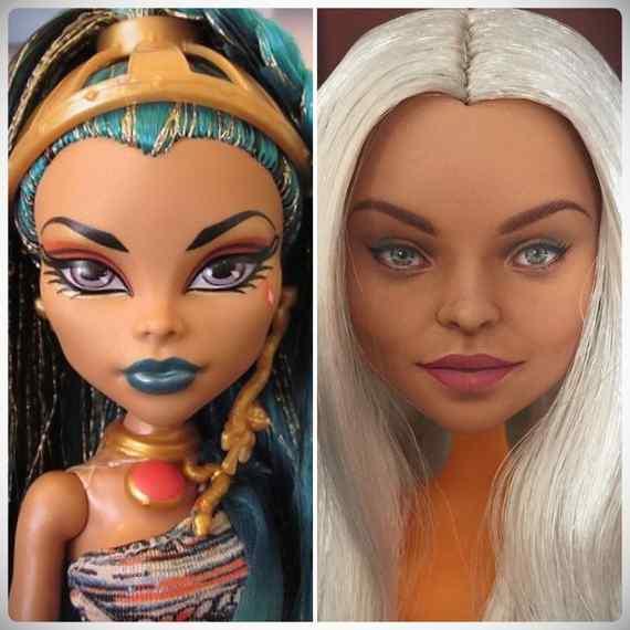 Muñecas maquilladas de forma realista. Galería de fotos impresionante. 8