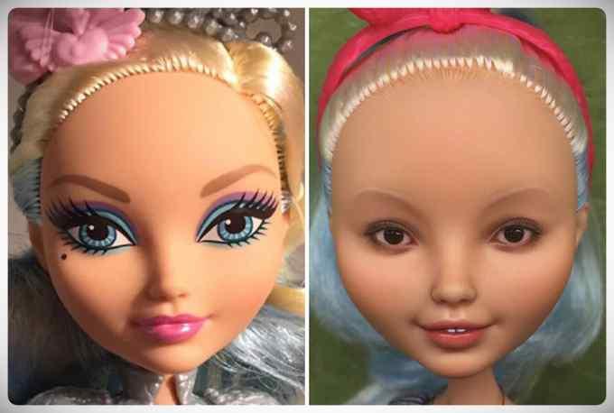 Muñecas maquilladas de forma realista. Galería de fotos impresionante. 9