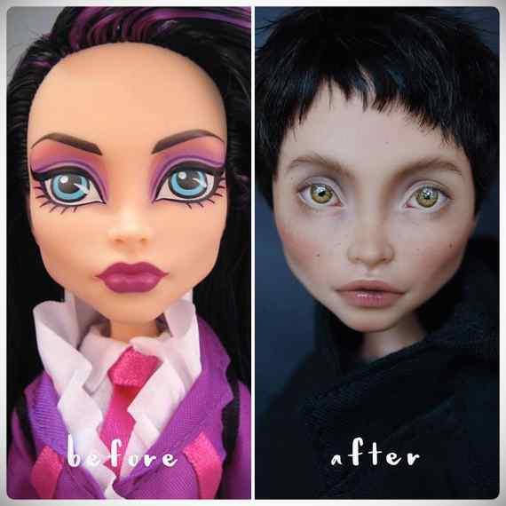 Muñecas maquilladas de forma realista. Galería de fotos impresionante. 10