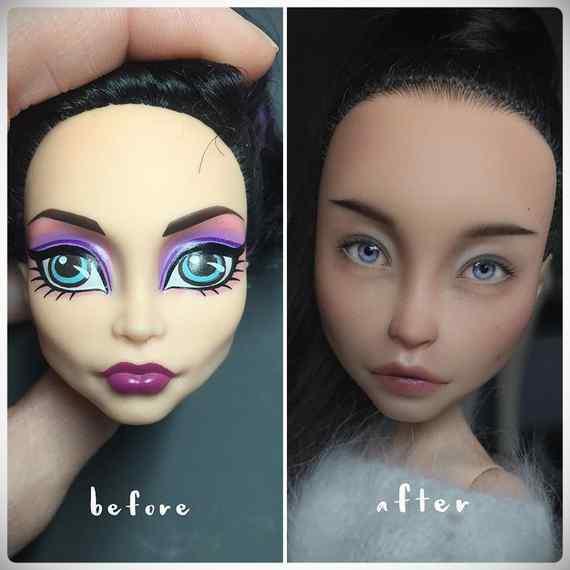 Muñecas maquilladas de forma realista. Galería de fotos impresionante. 11